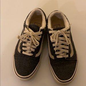 Vans Old School Faux Fur Lined Sneakers sz 8.5